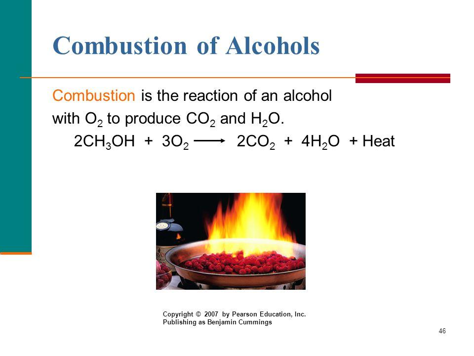 combustion alcohols Reported on higher alcohols (propanol, butanol and pentanol)  keywords:  combustion characteristics, higher-alcohol/gasoline blends, transportation fuels, .