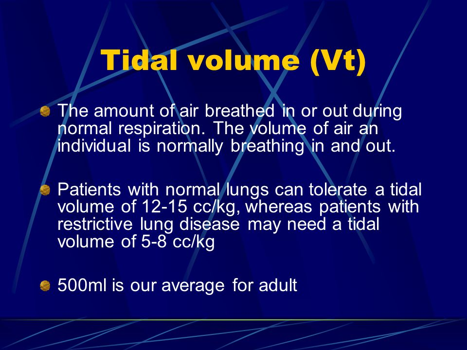 how to work out tidal volume