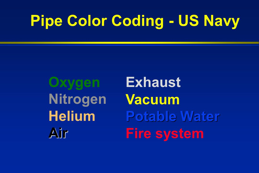 Navy Pipe Color Code Chart