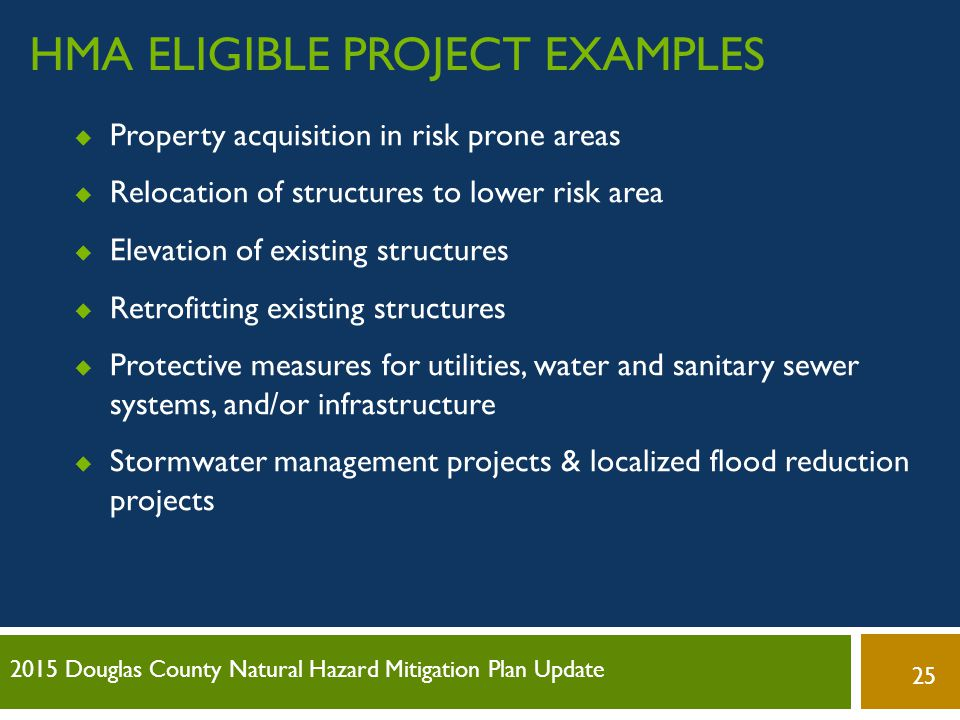 HMA Eligible Project examples