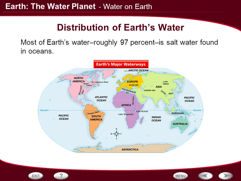 table of contents the properties of water water on earth surface water ppt video online download. Black Bedroom Furniture Sets. Home Design Ideas