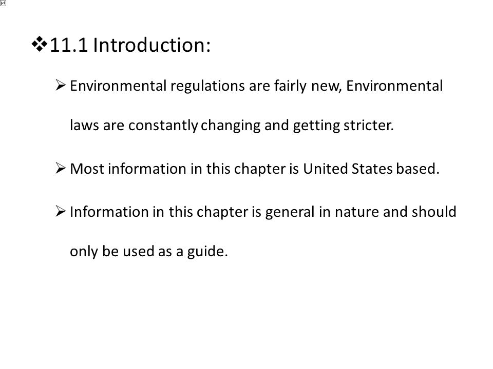 an introduction to the environmental law in the united states Introduction chapter 1 the evolution of international environmental law in the united states, this new environmental awareness led to the adoption of the.