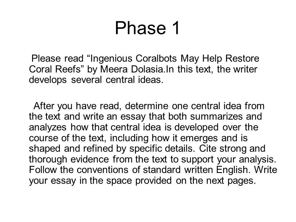 "tap"" the prompt what does the prompt want you to write about  phase 1 please ingenious coralbots help restore coral reefs by meera dolasia in"