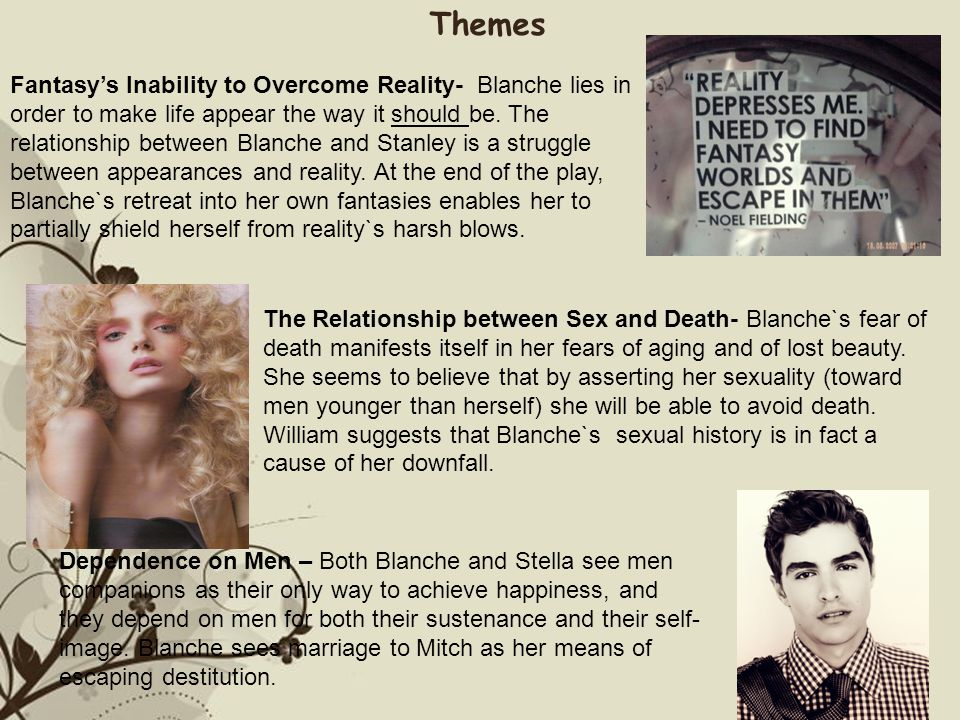 the relationship between blanche and stella A streetcar named desire scenes 4-6characters 1 stella and blanche respond differently to stanleys violent actions during the.