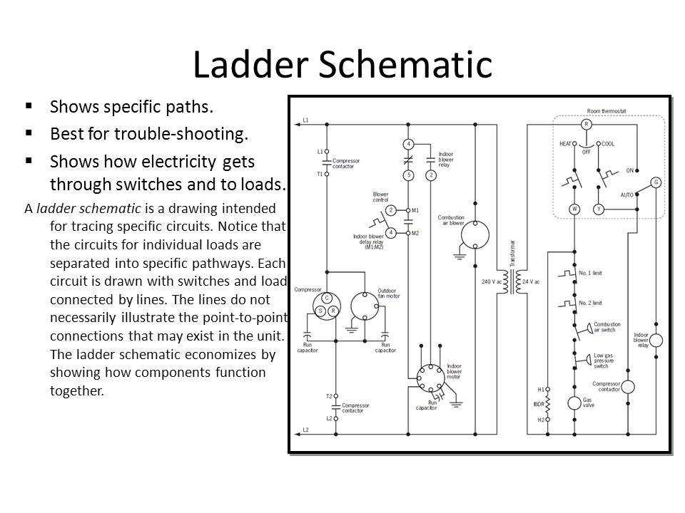 Ladder diagrams and pictorial wiring repair