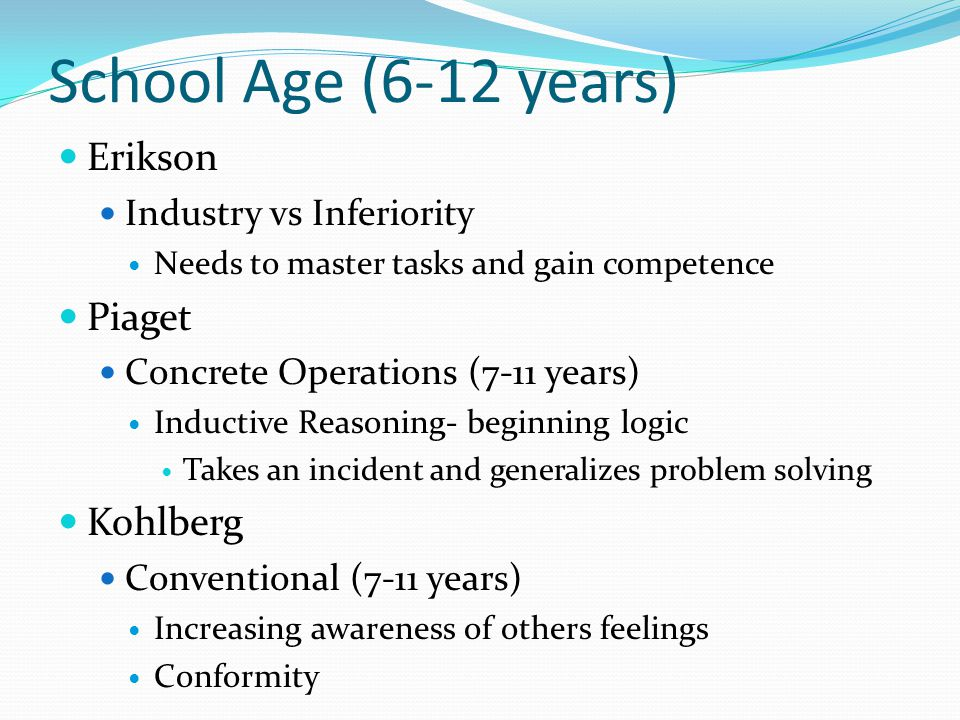 piaget kohlberg and erikson Activity requires student to match stages with specifics about the stage for four major theories of child development as developed from four theorists: piaget, bloom, kohlberg, and erikson.