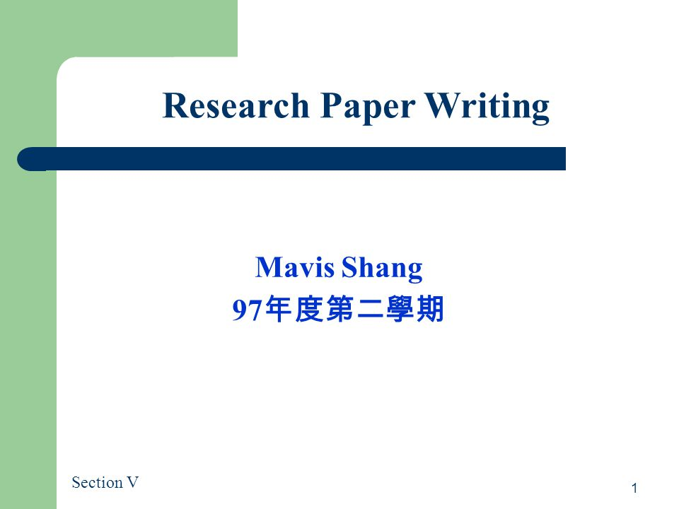 write data analysis section research paper Research in psychology i research proposal guide, part ii title: how to write a research paper methods and results (data analysis plan) section without.