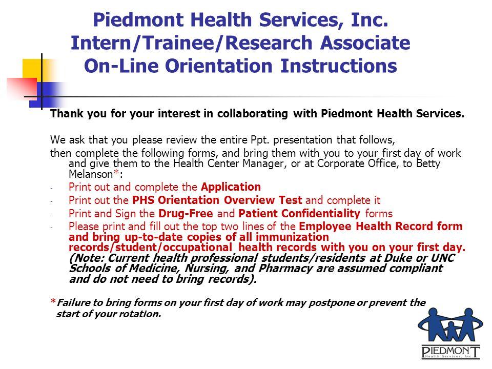 Piedmont Health Services, Inc