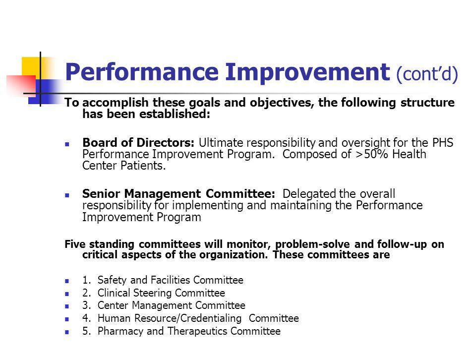 Performance Improvement (cont'd)