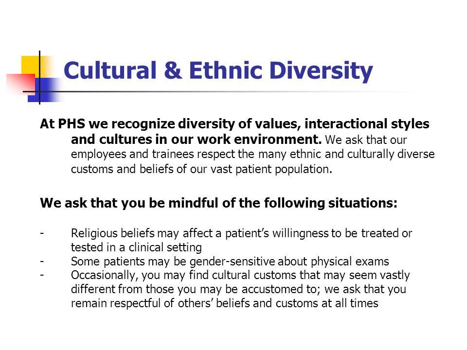 Cultural & Ethnic Diversity