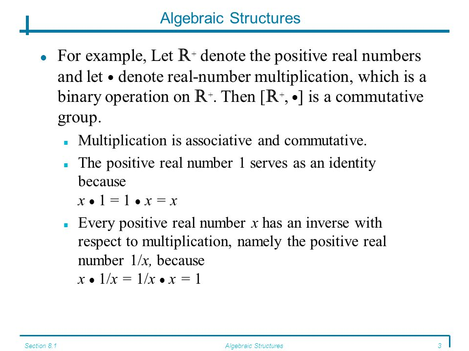 Algebraic Structures A Structure Called A Monoid Results From Dropping The  Inverse Property In The Definition