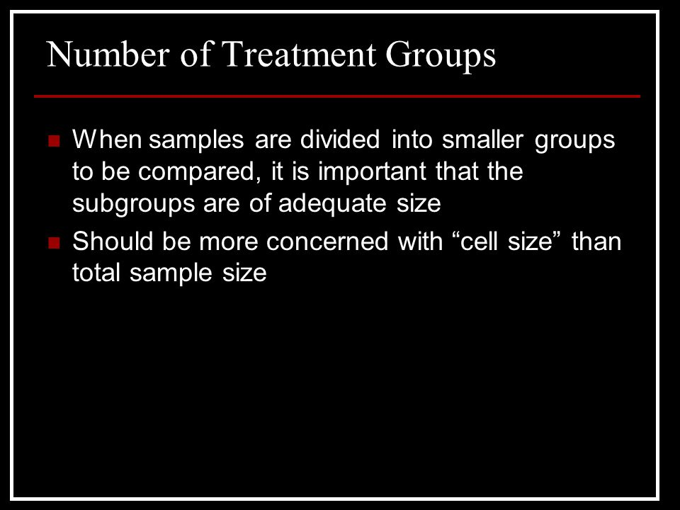 Number of Treatment Groups