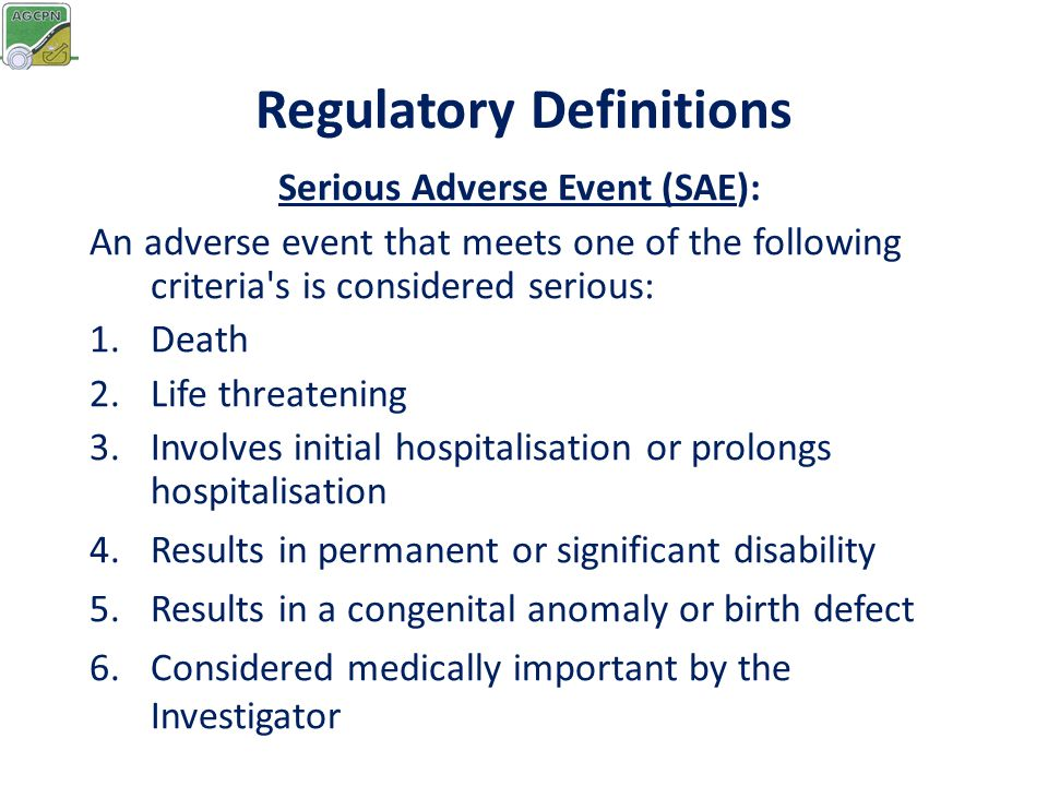 Regulatory Definitions