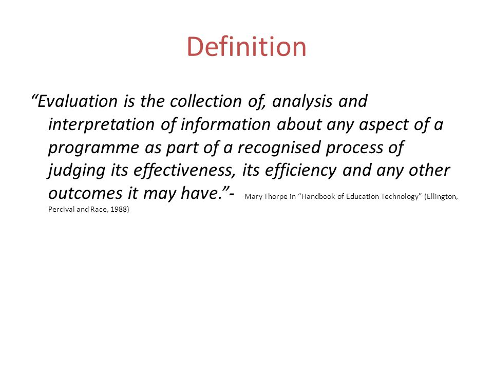 Evaluation  Ppt Download