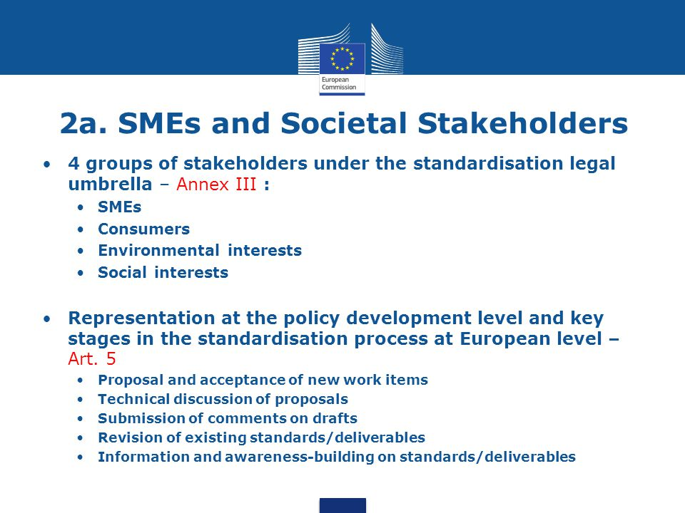 2a. SMEs and Societal Stakeholders