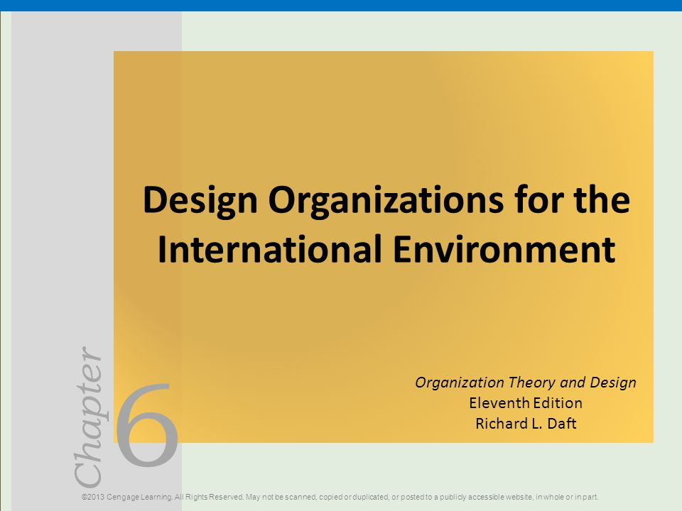 Design Organizations for the International Environment