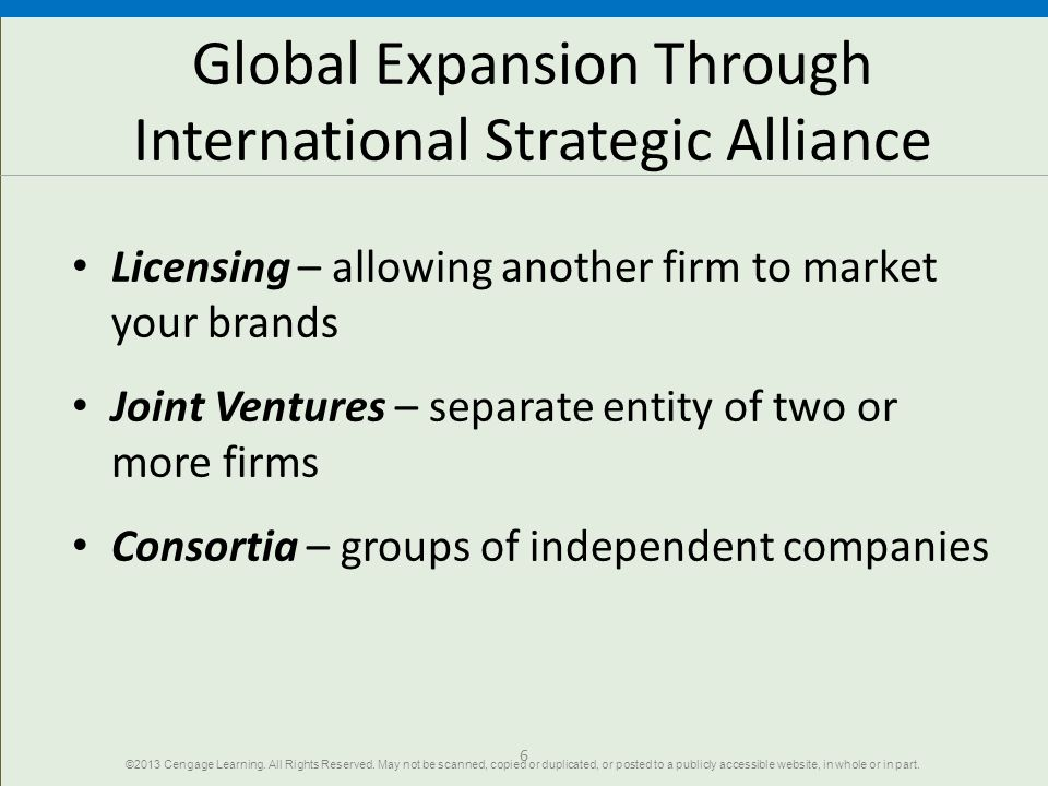 Global Expansion Through International Strategic Alliance
