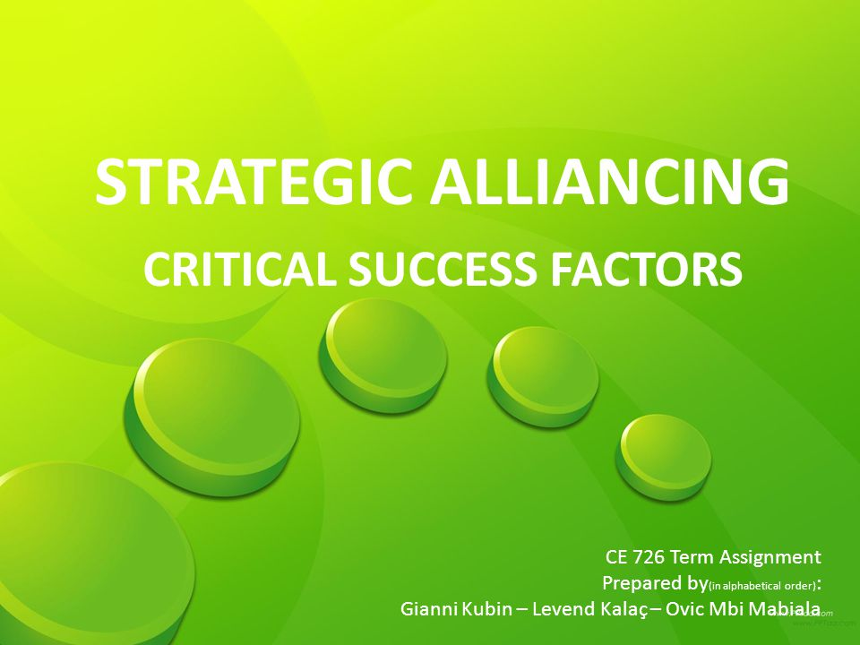 successful strategic alliances how to prepare Chapter_6__strategic_alliances - chapter 6 strategic alliances yuhua zhang professor of guangdon vf's program is considered one of the most successful in the.