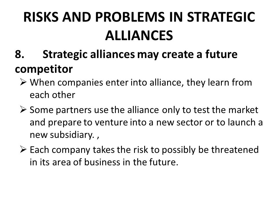 A review of strategic alliances between firms in the same industry