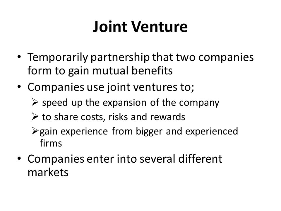 Joint Ventures- A Legal Analysis
