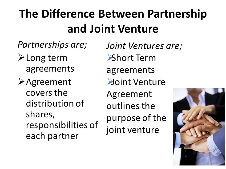 joint venture and franchise agreements analysis A franchise is a business arrangement in which one party signs a contract with a firm to sell products or services using the firm's name and image a joint venture is an agreement between two.