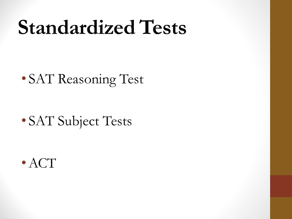 standardized tests the sat andact Sat and act scores standardized test requirements beginning with applicants to the class of 2023, tufts requires either the sat or the act we do not require sat subject tests, the sat essay, or the writing section of the act you may submit those scores to tufts if you choose to sit for these sections, but please note that they are not required and sending them will not increase a student .