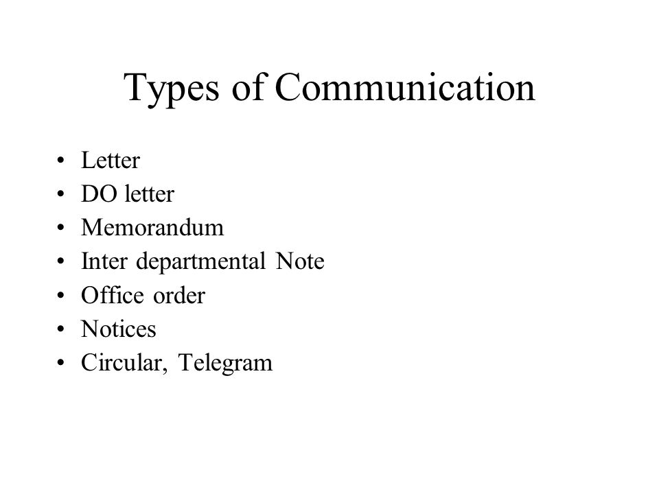 Types Of Communication  Inter Office Communication Letter