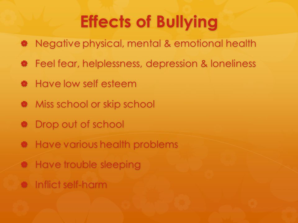 emotional versus physical bullying Consequences bullying is intentional negative behavior that is repeated and  involves an imbalance of social or physical power1 because bullying inherently.