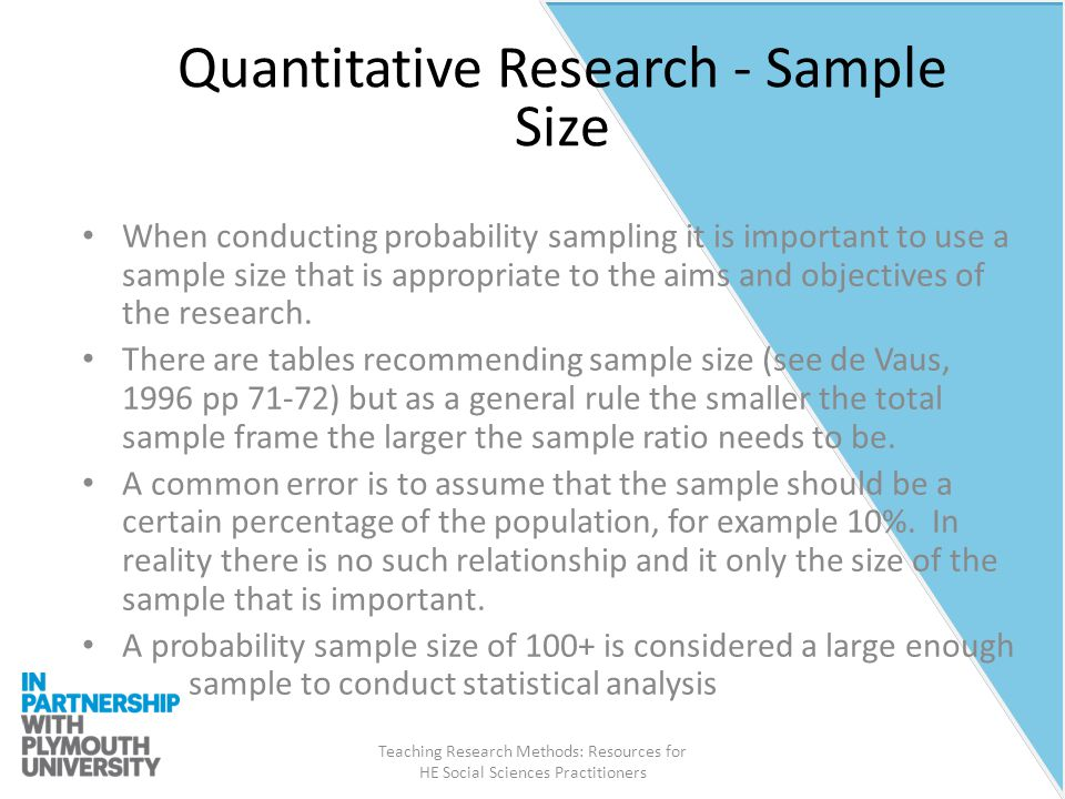 research sample size Calculation of exact sample size is an important part of research design it is very important to understand that different study design need different method of sample size calculation and one formula cannot be used in all designs.