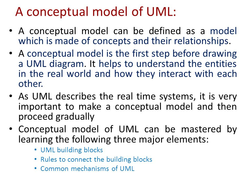A conceptual model of UML: