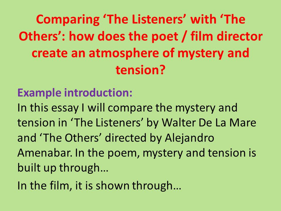 the others alejandro amenabar essay The others alejandro amenabar essay about myself their difference is felt most pointedly in the use of sound: where erice's art film is nearly silent, amenábar's is.