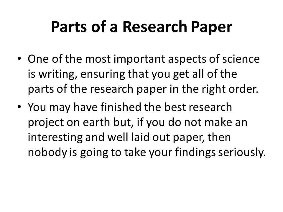 write a science research paper How to write a scientific paper even if you are not planning to publish a scientific paper, you may be asked to write.