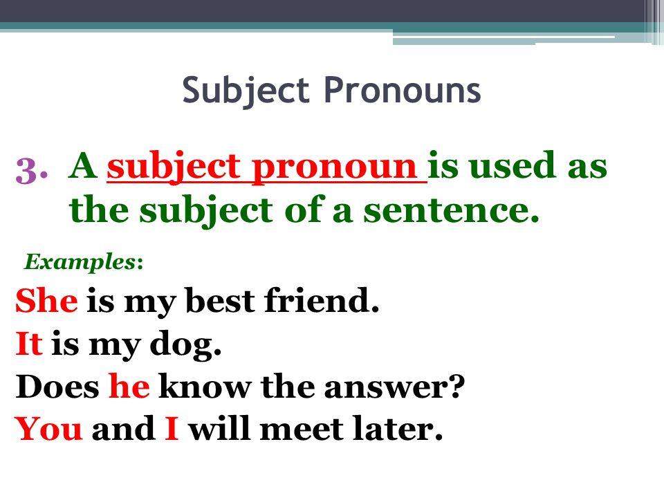 Personal pronoun list and examples PDF English grammar lesson