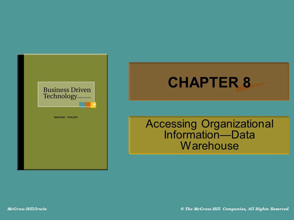 Accessing Organizational Information—Data Warehouse