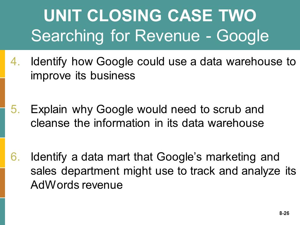 UNIT CLOSING CASE TWO Searching for Revenue - Google