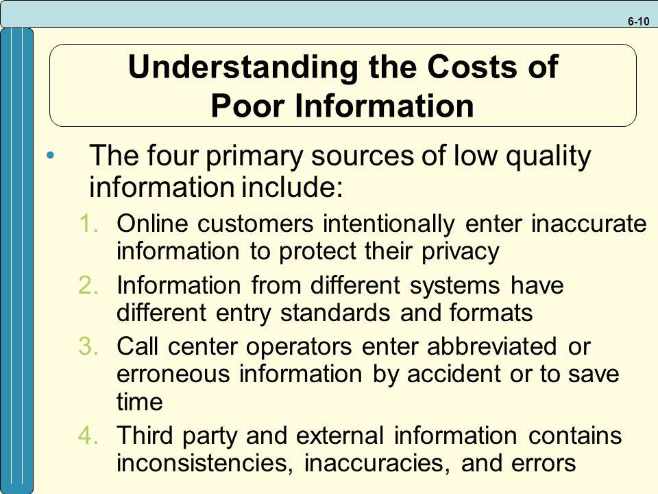 Understanding the Costs of Poor Information