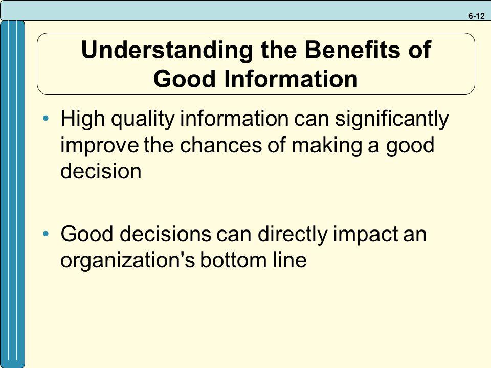 Understanding the Benefits of Good Information