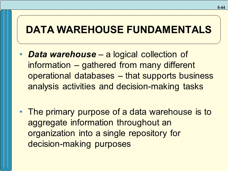 DATA WAREHOUSE FUNDAMENTALS