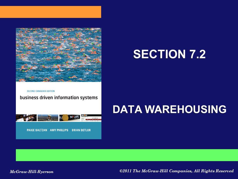 SECTION 7.2 DATA WAREHOUSING