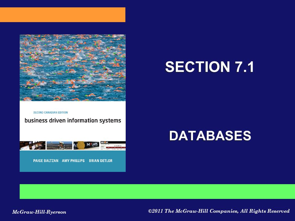 SECTION 7.1 DATABASES CLASSROOM OPENER