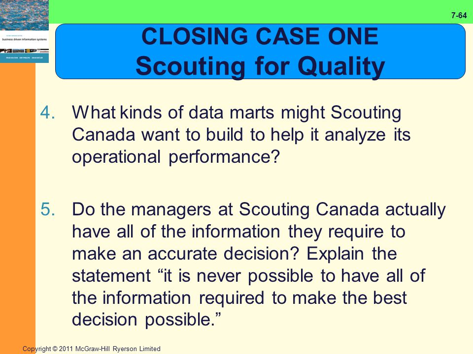 CLOSING CASE ONE Scouting for Quality