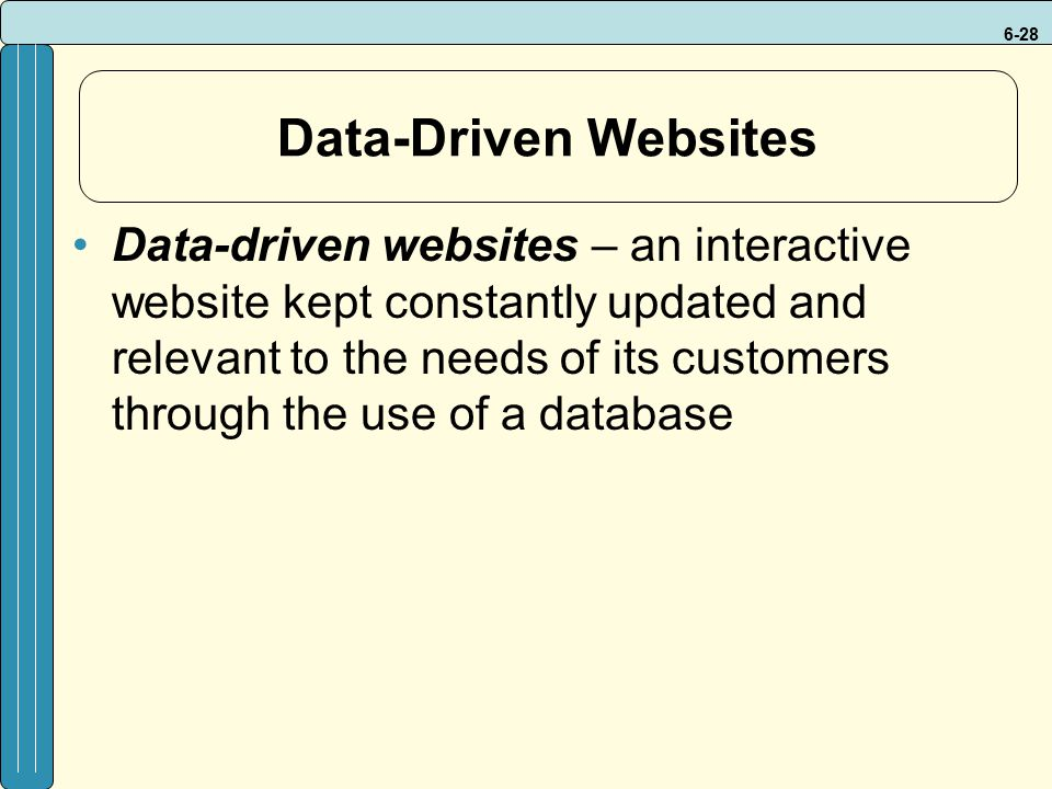 Data-Driven Websites