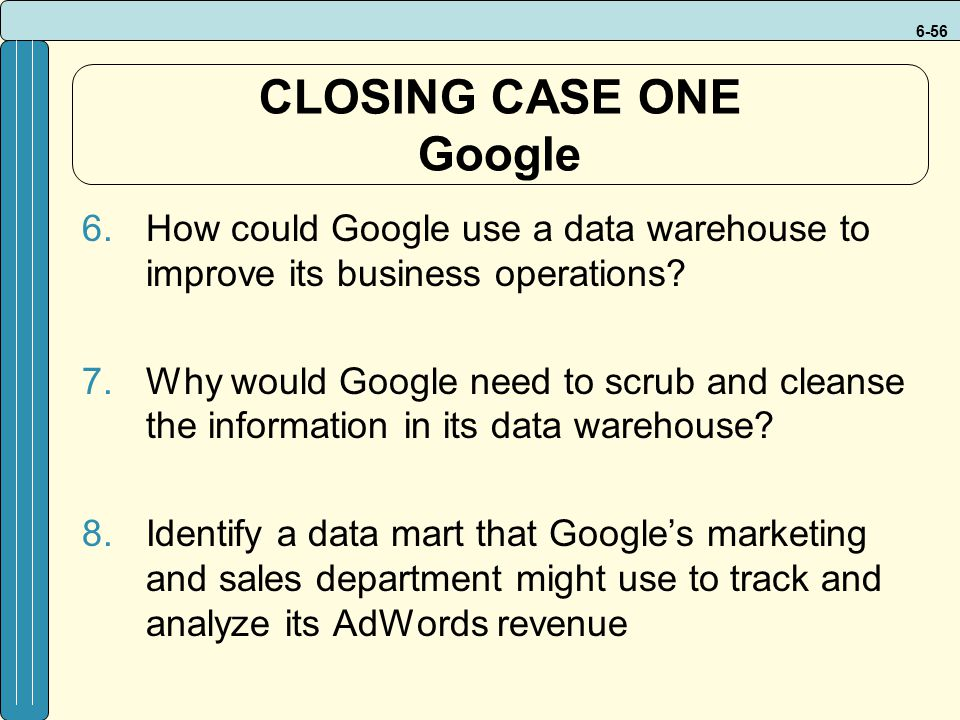 CLOSING CASE ONE Google