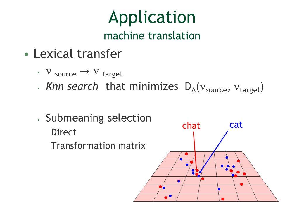 Application machine translation