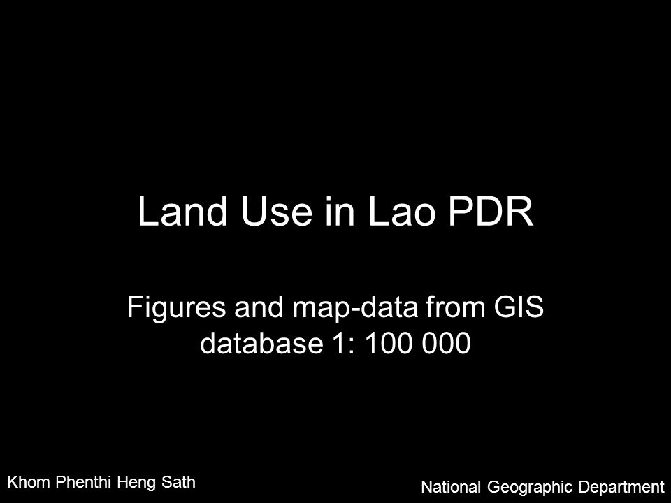 Figures and map-data from GIS database 1: