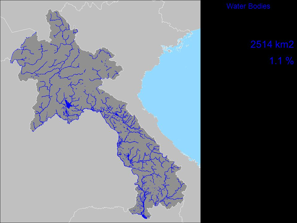 Water Bodies 2514 km2 1.1 %