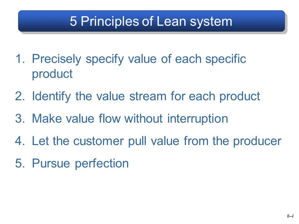 5 Principles of Lean system