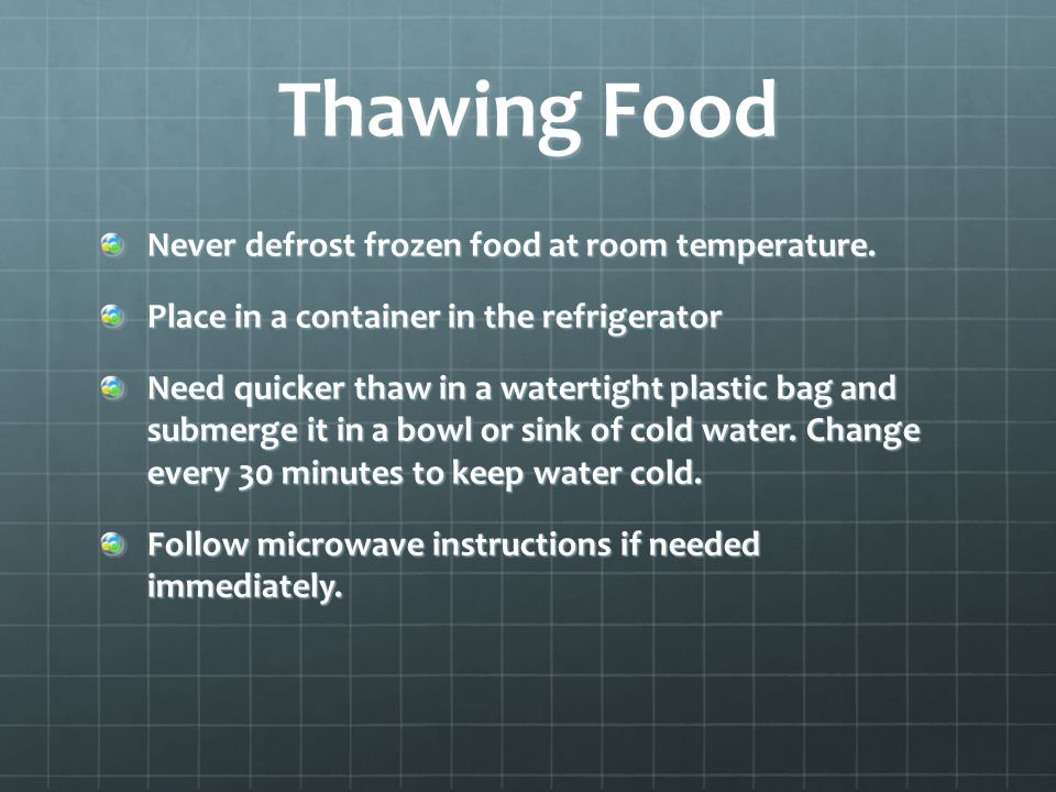 Safe To Defrost Chicken At Room Temperature