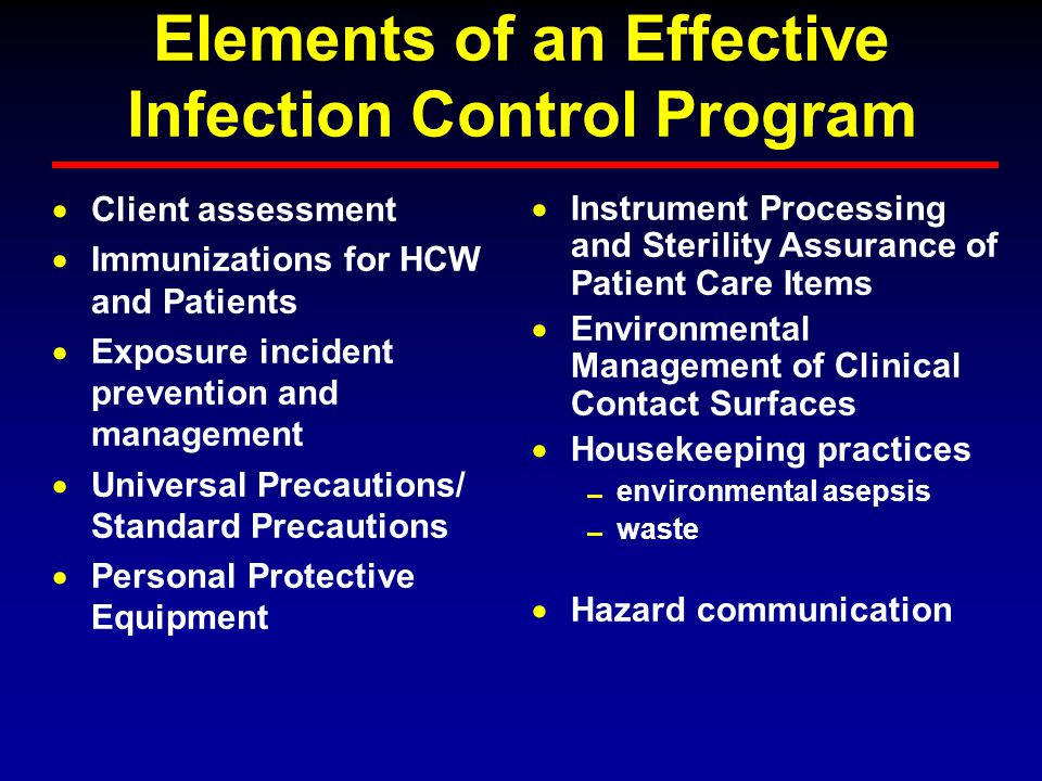 infection control and environmental safety The colorado department of public health and environment issued a statement  april  20, 2018, about an infection control breach that may have put some  at  porter adventist hospital, patient safety remains our top priority.