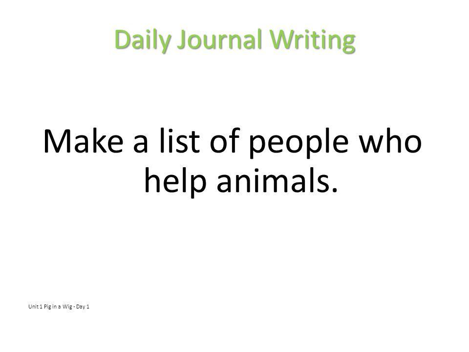 Make a list of people who help animals.